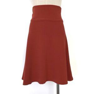 LuLaRoe Burnt Orange Azure Skirt Size xs